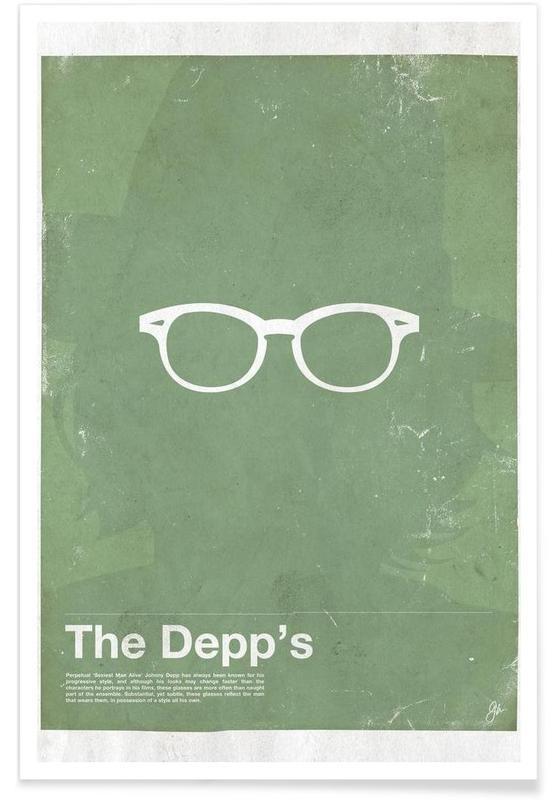 Johnny Depp Glasses Poster