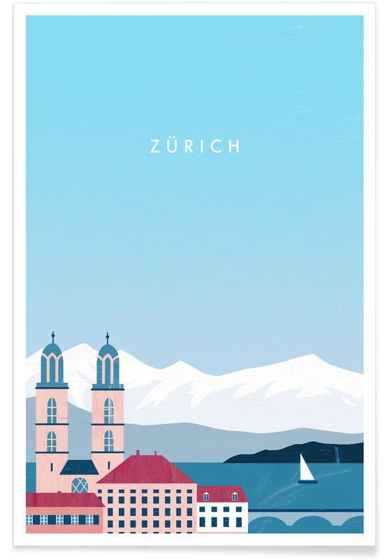 Retro-Zürich -Poster