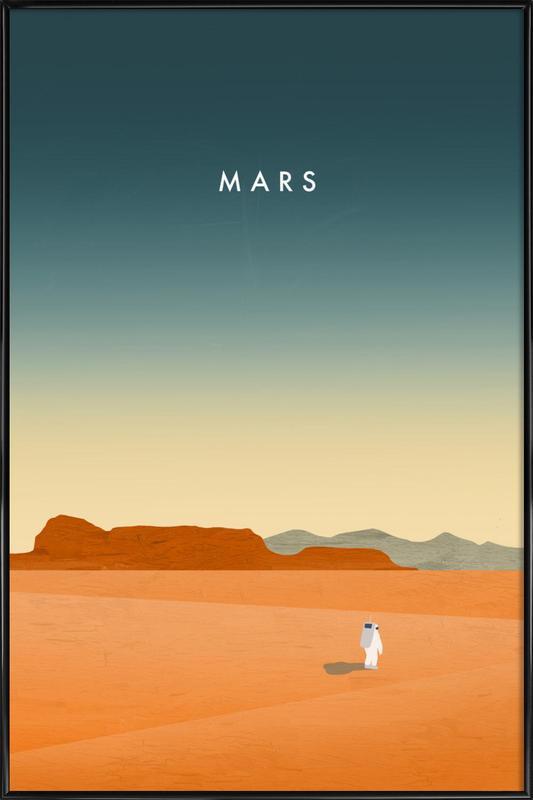 Mars ingelijste poster