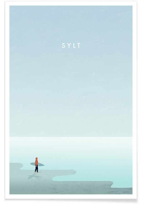 Sylt - Rétro affiche