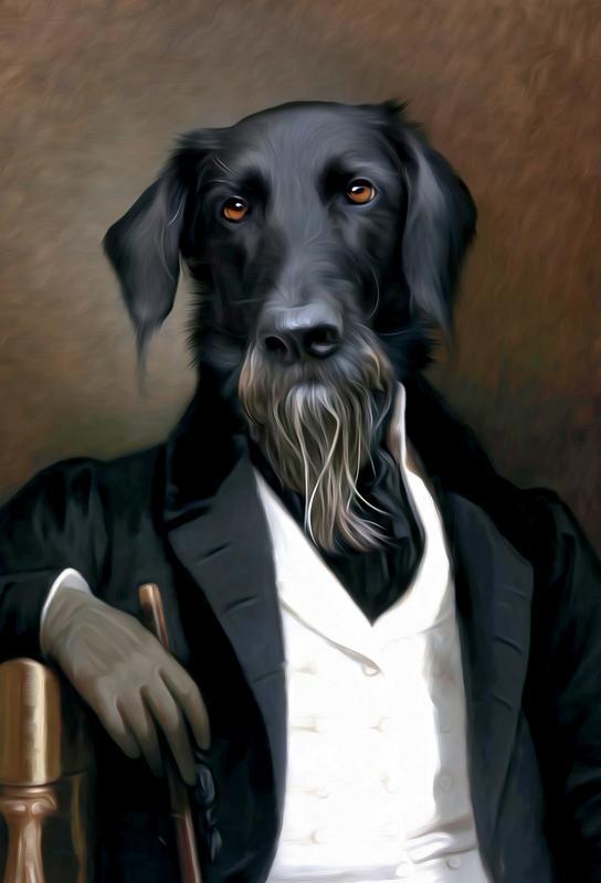 Einstein Beard -Acrylglasbild