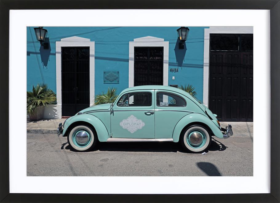 Mexican Beetle 27 affiche sous cadre en bois