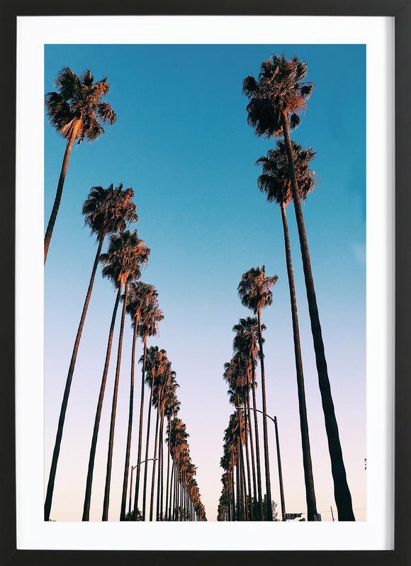 Wanna Be in LA by @samfn affiche sous cadre en bois