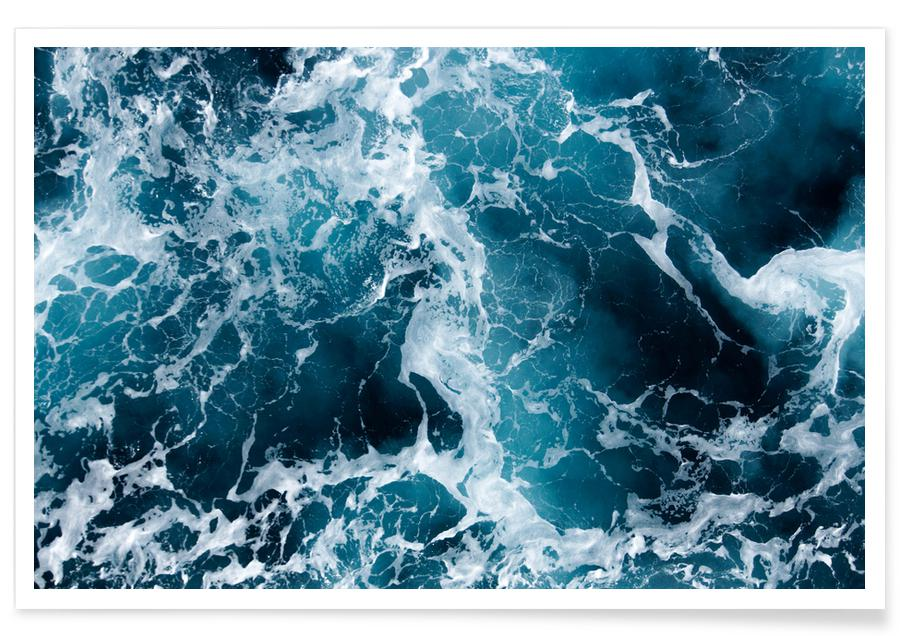 Sea Aerial Photograph Poster