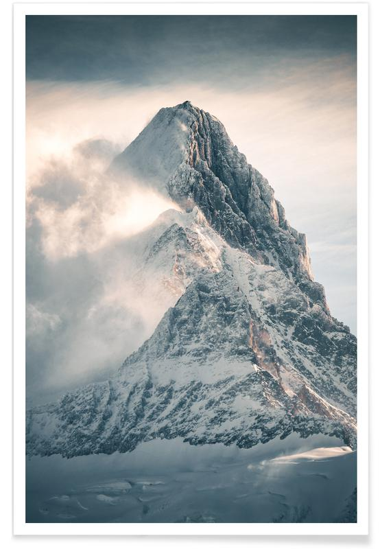 Snow Mountain Photograph Poster