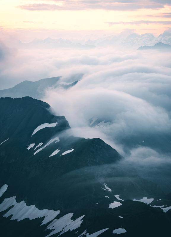 A Curtain of Clouds by @noberson -Leinwandbild