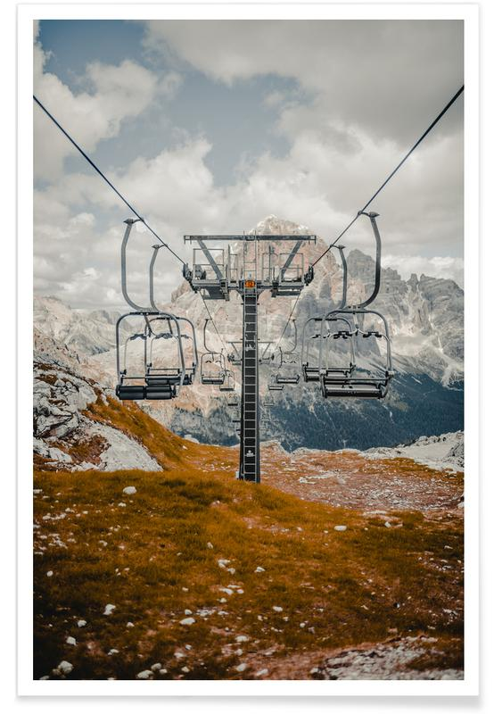Skilift-Fotografie -Poster