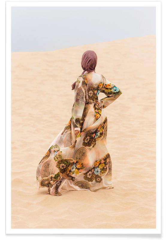 Desert Dance by Kurshid Samarqandiy -Poster