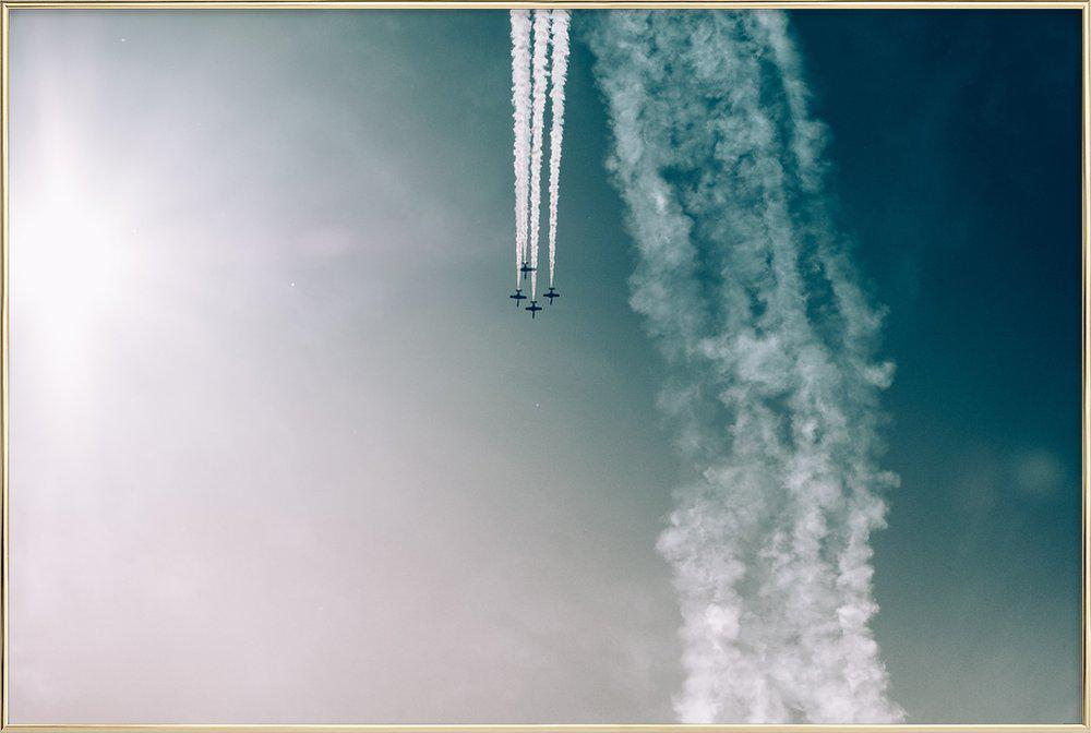 Squadron of the Skies by Jonas Peschel -Poster im Alurahmen