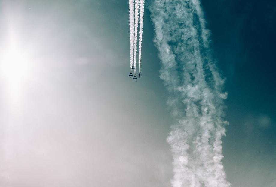 Squadron of the Skies by Jonas Peschel Aluminium Print