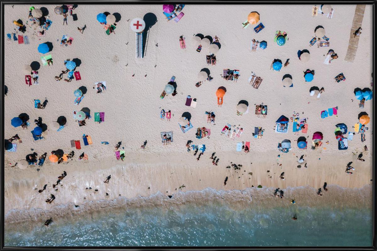 Life's a Beach by Michael Schauer -Bild mit Kunststoffrahmen