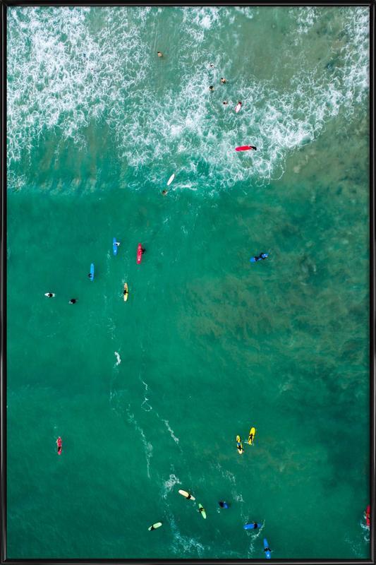 Everybody's Gone Surfin' by Lentam Framed Poster