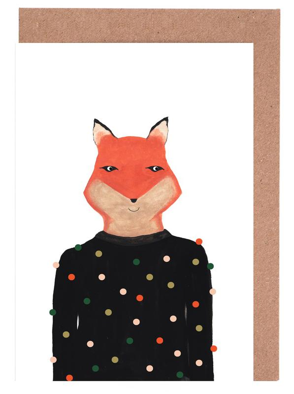 Fox with Sweater Greeting Card Set