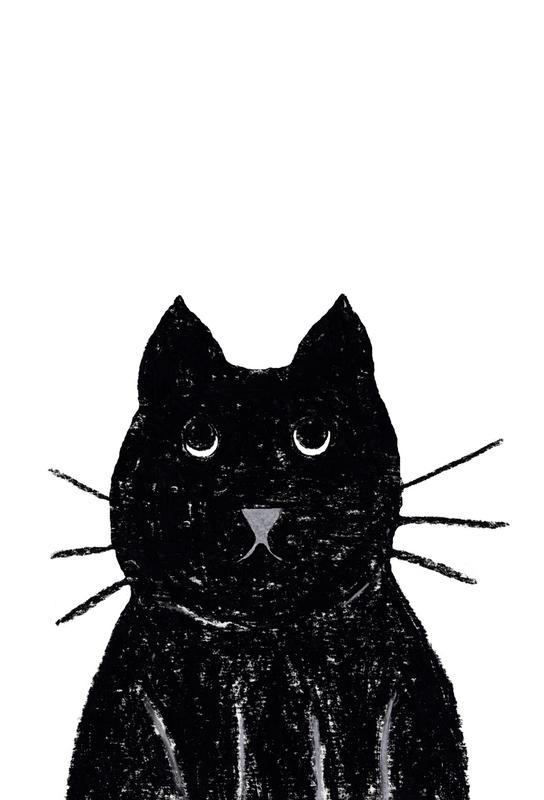 Innocent Cat Aluminium Print