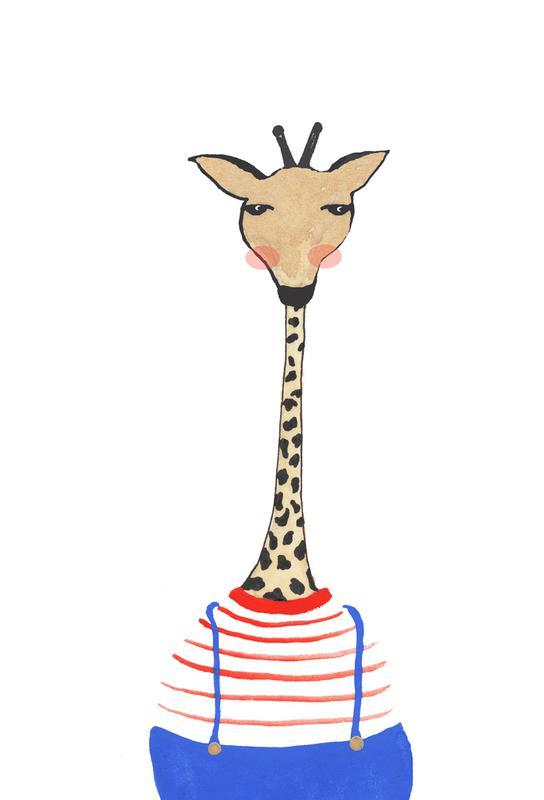 Giraffe with Clothes tableau en verre