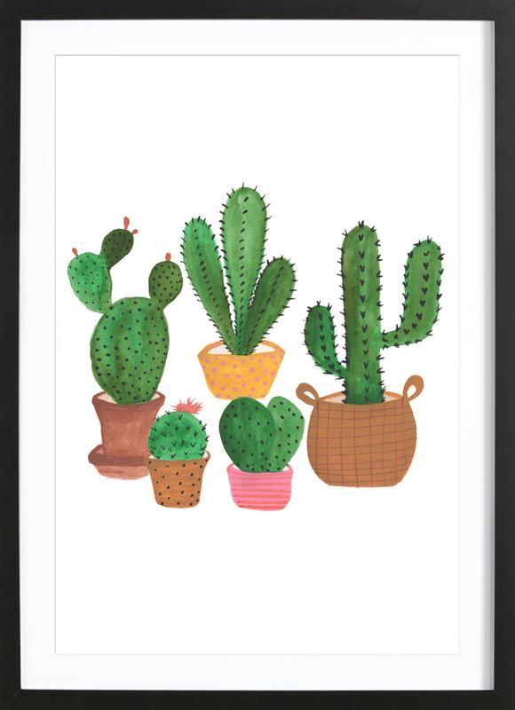 Cactus Family Framed Print