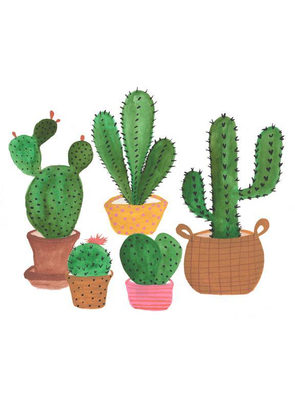 Cactus Family Canvas Print