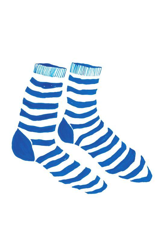 Striped Socks Acrylic Print