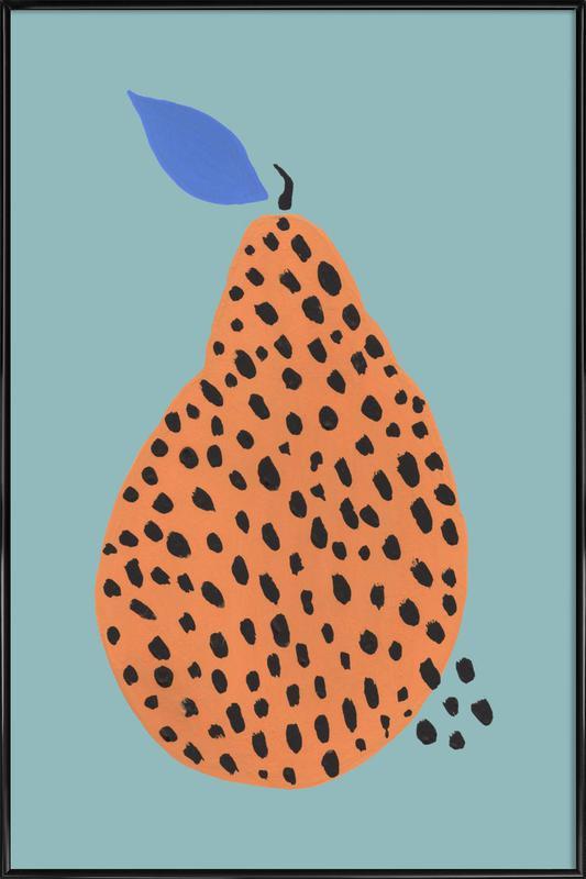 Joyful Fruits - Pear affiche encadrée