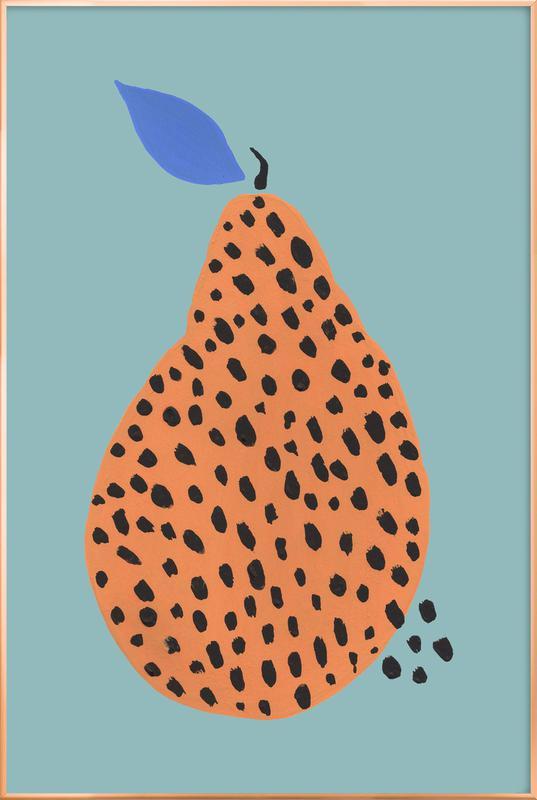 Joyful Fruits - Pear -Poster im Alurahmen