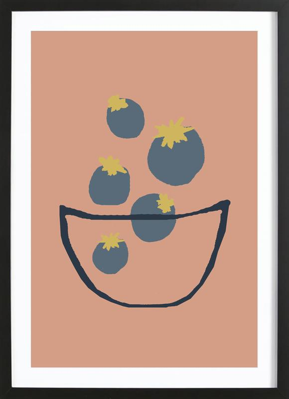 Joyful Fruits - Blueberries Framed Print