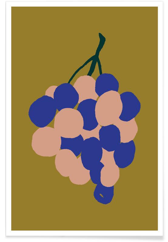 Joyful Fruits - Grapes affiche