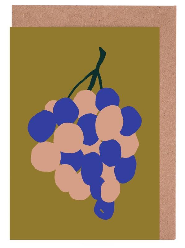 Joyful Fruits - Grapes Greeting Card Set