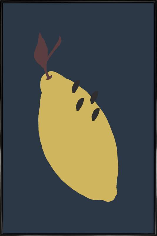Joyful Fruits - Lemon Framed Poster