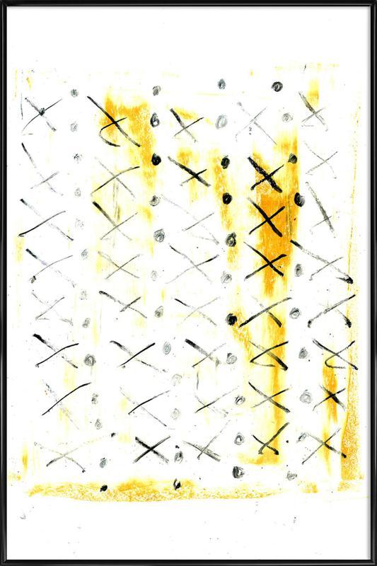 Black Triangle Framed Poster