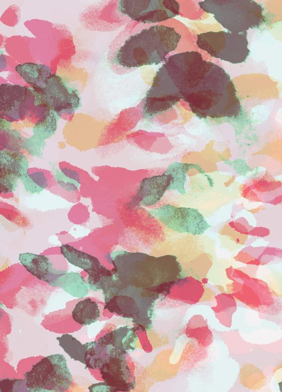 Floral Aquaellic toile