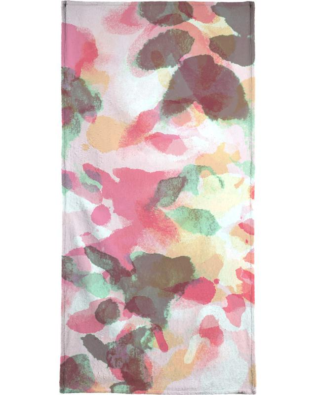 Floral Aquaellic Bath Towel