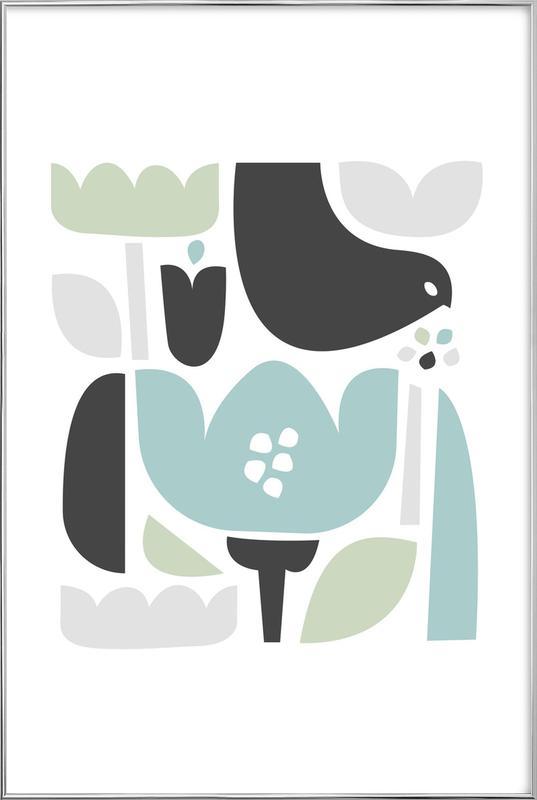 Flower Fields Ii -Poster im Alurahmen