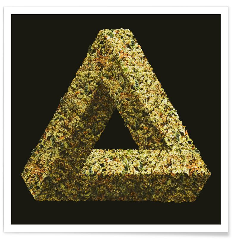 Weed Penrose Triangle Poster