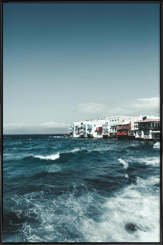 Wild Sea Waves Framed Poster
