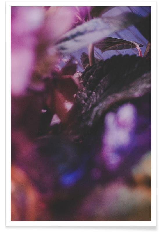 Faded Floral Purple 2 Poster