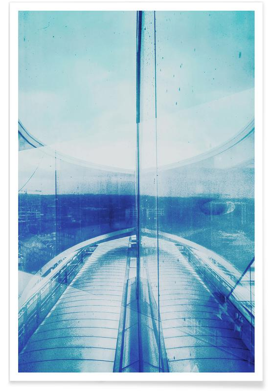 Reflection Blue Poster