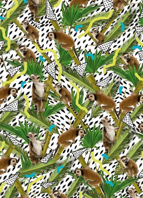 Lemur canvas doek