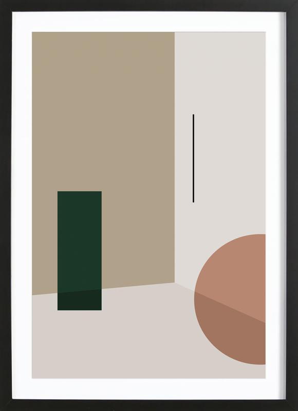 Separated 3 -Bild mit Holzrahmen
