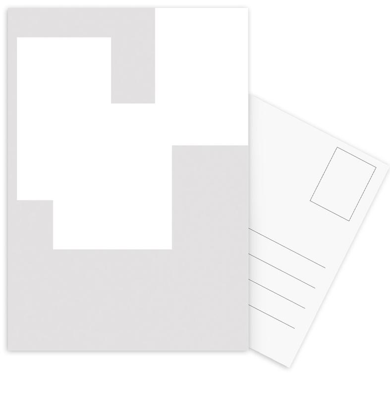 Three White Ones Postcard Set