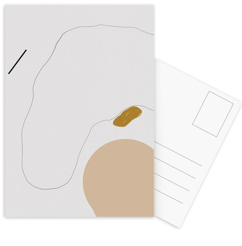 Head Without Face Postcard Set
