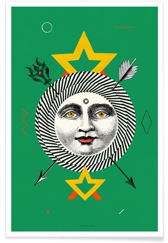 The Sun Tarot Card -Poster