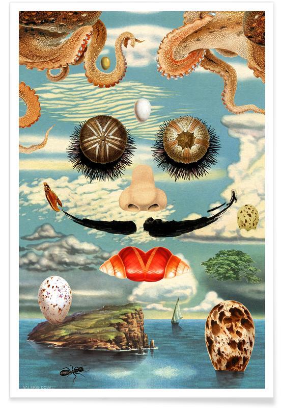 Dali & The Sea Urchins -Poster