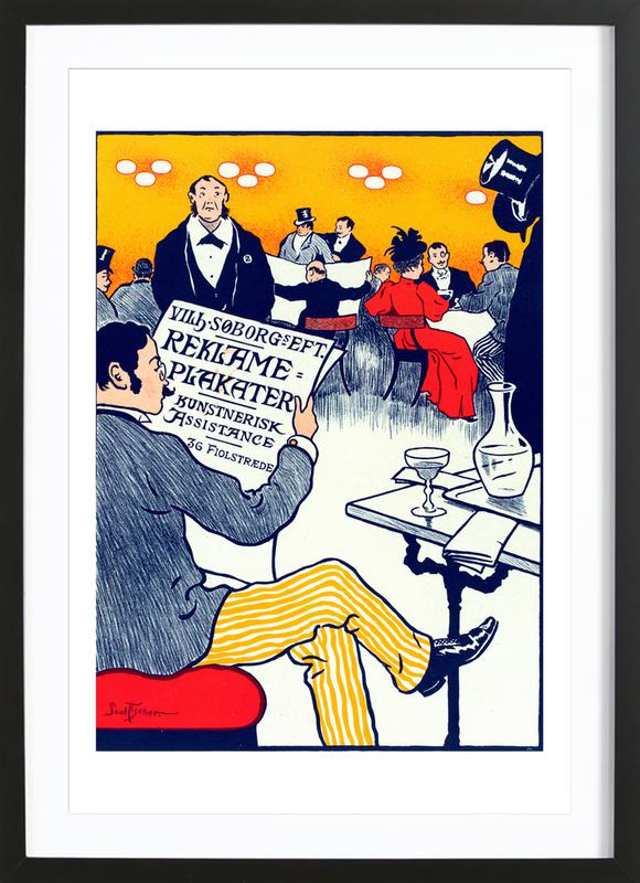 Danish poster for Posters artistiques - Paul Fischer Framed Print