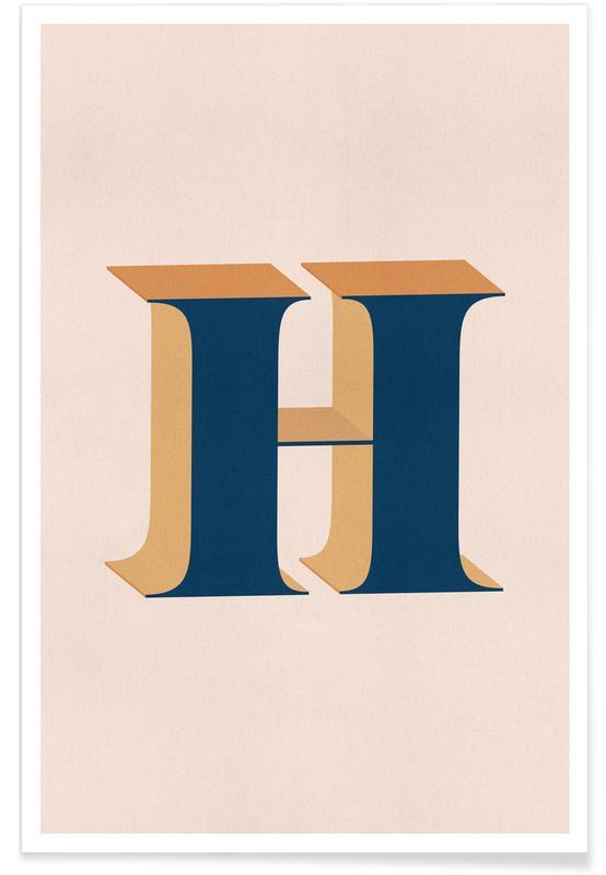 Blue H Poster