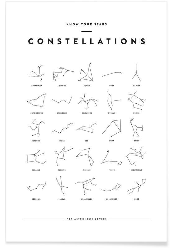 Constellation Chart Poster