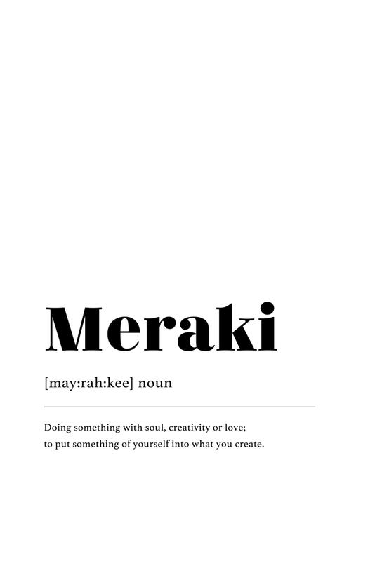 Meraki -Acrylglasbild