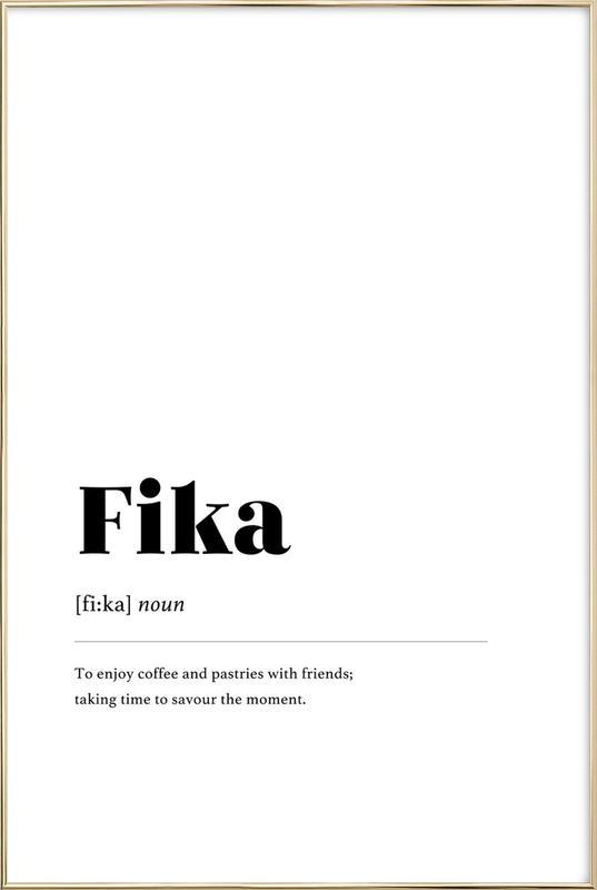 Fika Poster in Aluminium Frame