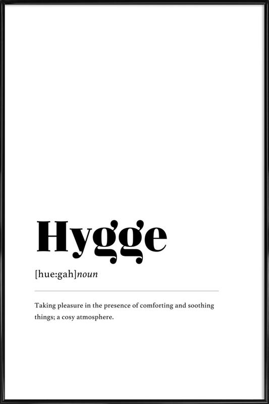 Hygge -Bild mit Kunststoffrahmen
