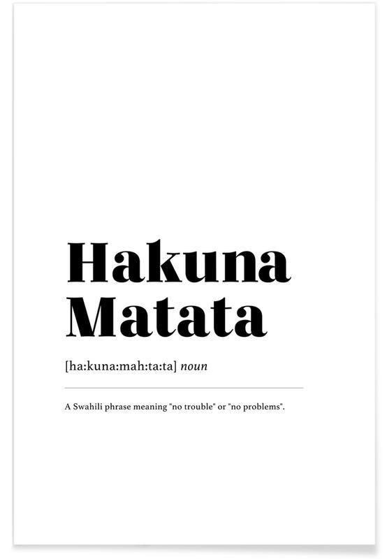 Hakuna Matata -Poster