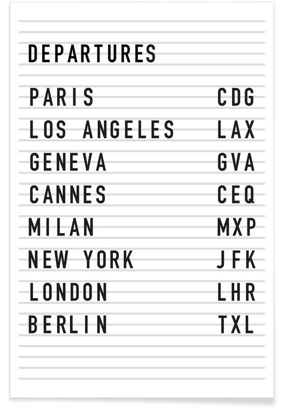 Departure Paris affiche